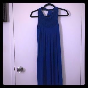 Anthropologie blue halter dress